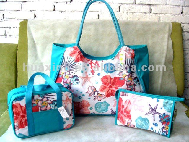 101334 Summer Flower 600D Beach Bag