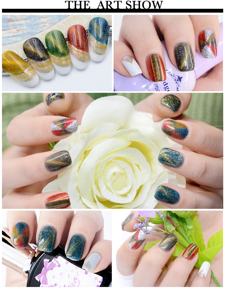L&M China Nail Art Supplier Hot Sell Product Rainbow Magneto Gel Led Gel Polish