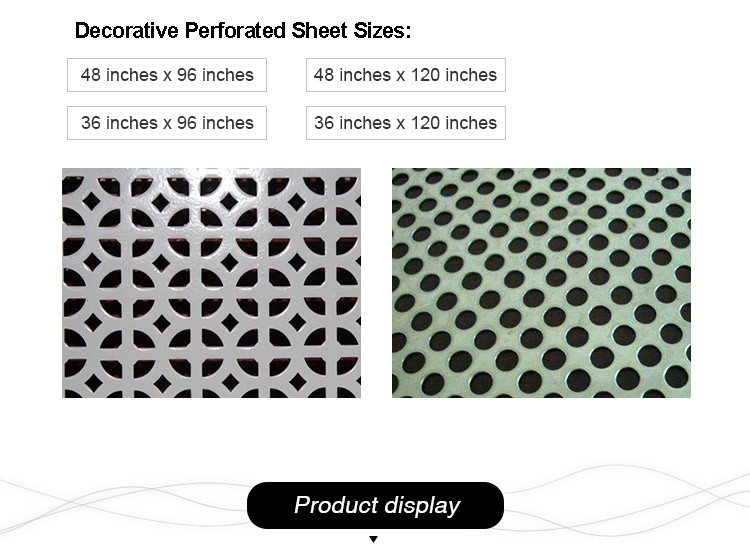 varius shapes perforated metal mesh