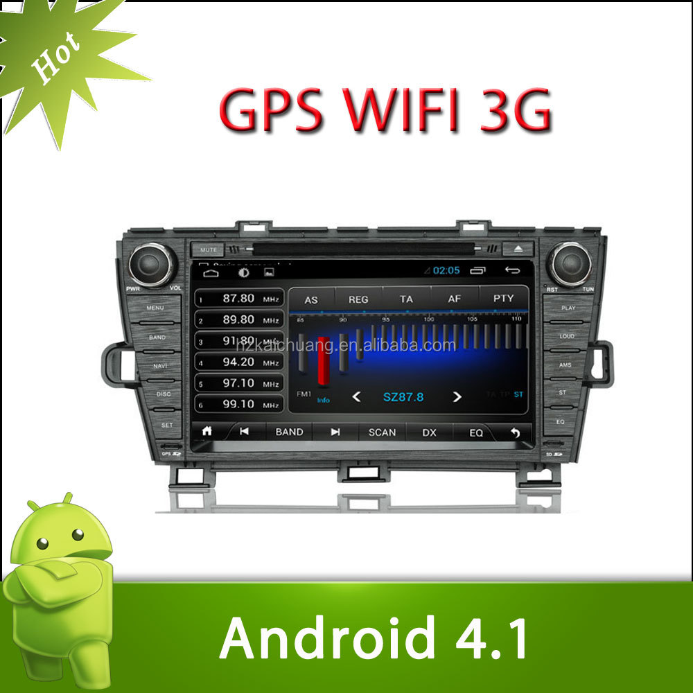 "8"" 2 din android 4.1 toyota prius car DVD with Radio,GPS,Ipod,Bluetooth,SWC,Wifi,PIP,3D UI"