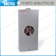 METO superior 320A single phase 3 wires 4 jaws for galvanized customized electrical power square meter base