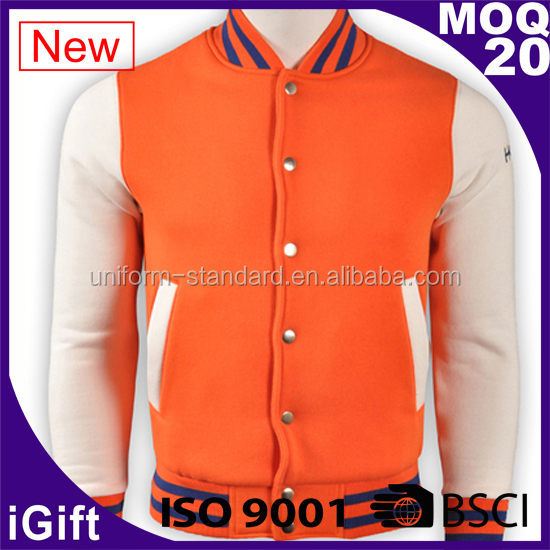 Custom Winter high quality plain cheap custom varsity jackets