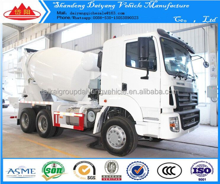 T7 8 Cubic Meters Concrete Mixer Truck With Hydraulic Pump