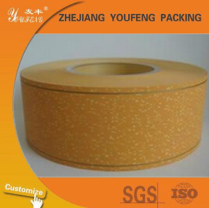 Cigarette tipping paper with gold line