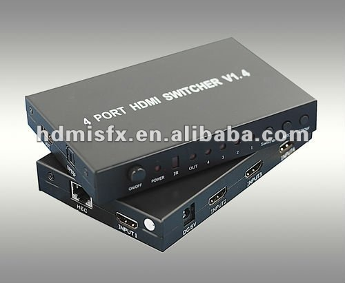 3D mini 4x1 hdmi video switcher,manufacturer, hdmi 1.4 switcher with 1080p