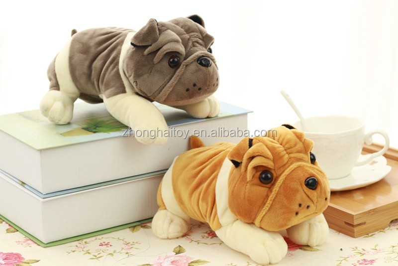 OEM simulat plush sharpei dog toy high quality plush sharpei Eco-friendly material soft sharpei toy
