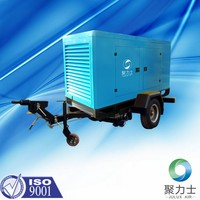 3PH 380 V 50 HZ 132KW heavy duty portable industry use lubricated lubrication style screw air compressors made in China