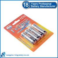 LR6 alkaline battery aa mercury free battery