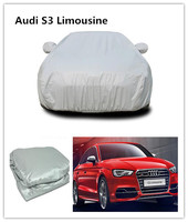 Car Cover Waterproof All Weather Ding Protection Multi Layers Auto Cover Folding silver PEVA sun car cover For Audi S3 Limousine