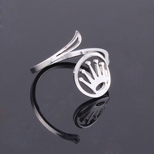 Korean trendy fashion simple crown fancy gold ring for women
