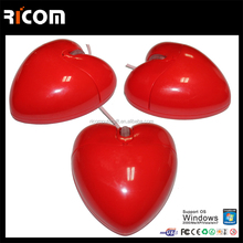 OEM Optical Mouse Heart Shape Mouse With Custom Logo MO7009