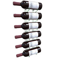 Stylish Wall Mounted Glass Effect Acrylic Wine Bottle Rack
