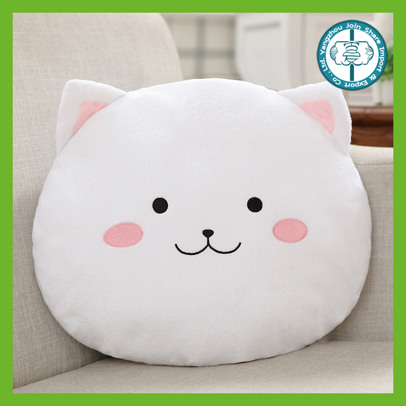 Promotional trendy stuffed soft plush wholesale throw pillows with blanket