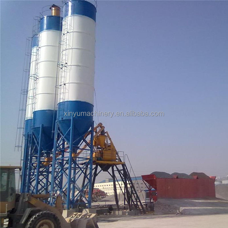 Popular automatic ready mix HZS50 concrete plants manufacturing