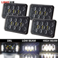 Wholesale 4x6 60W square led headlight 5 inch rectangular headlight with DRL