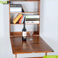 China Wall mount and folding teak wood waterproof multifunction table for working and studying