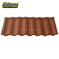 Alu-Zinc Steel stone metal roof tile, roof tile ridge cap, factory roof construction material