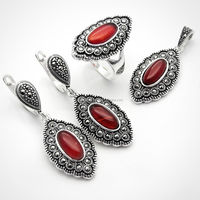Marcasite Silver Women Set - Petek Silver Jewelry