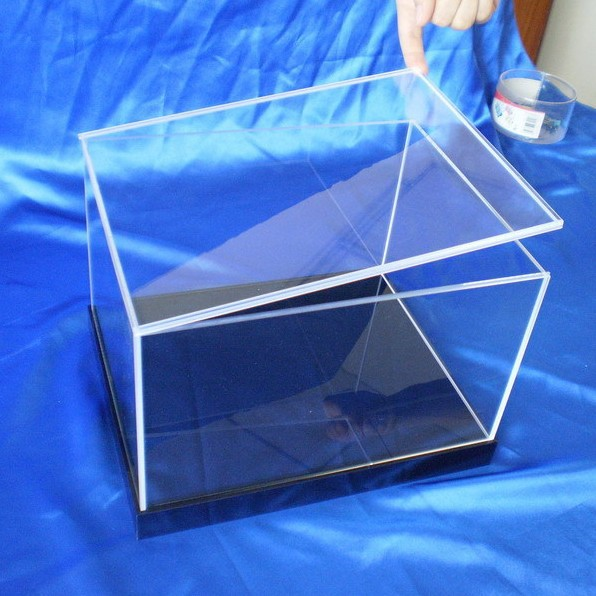 "clear acrylic display case box 12"" 1/6 scale figur"
