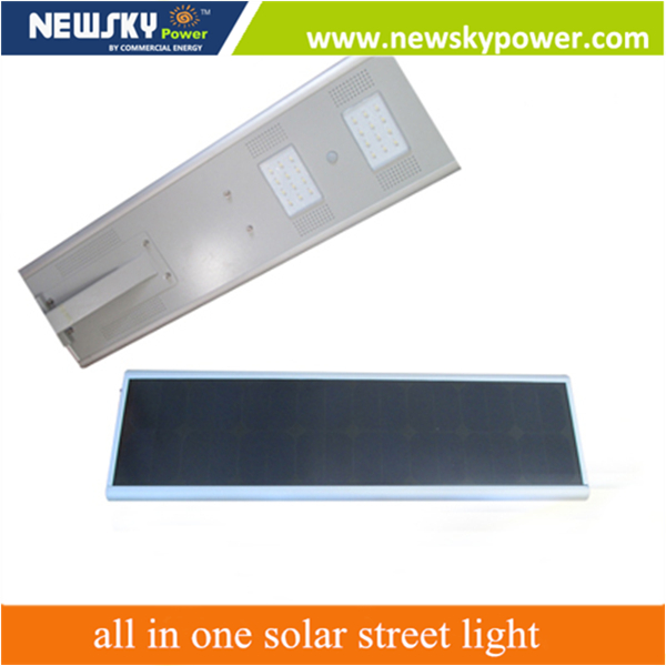 Bluetooth MPPT controller ourdoor lighting 80w led solar street light all in one