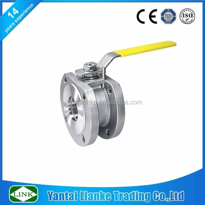 Wafer type duplex stainless steel italy flanged ball valve