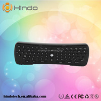 Hindo High Quality 2.4G IR TV remote control/fly air mouse keyboard/bluetooth air fly mouse