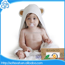 order from china direct hot selling 75x75cm custom extra soft bamboo hooded baby towel