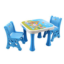 New design cheap plastic blue baby table bedroom furniture cute design plastic kids reading table