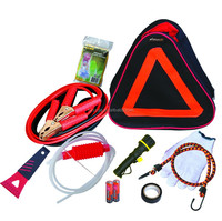 10pcs auto car emergency kit in triangle bag