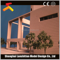 3d animation rendering for architectural scale building model