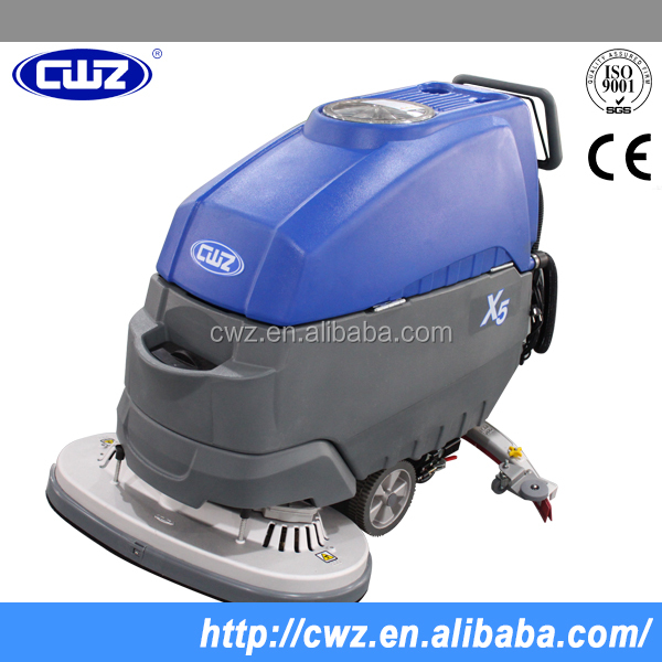 Dual brush electric automatic floor cleaning machine