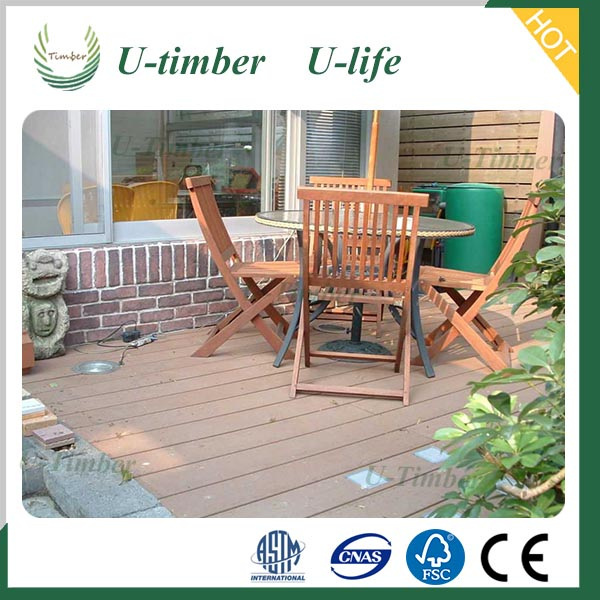 Anti-slip weather resistant high quality cheap price wpc decking,wood plastic composite