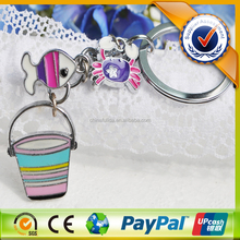 Fancy painting metal keychain / animal key chain