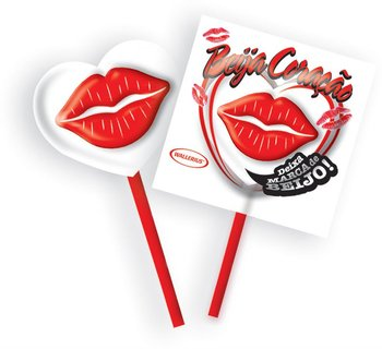 NOVELTY !!! Kiss Heart LOLLIPOP