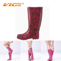 transparent women rubber rain boots for sexy women