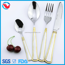 Gold Color Plated Stainless Steel Cutlery Set