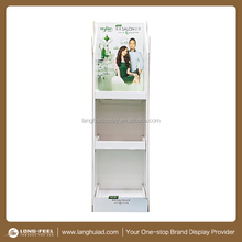New! Retail shampoo itmes cardboard floor display rack/ display stand