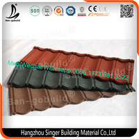 Roman Type Stone Coated Roofing Metal Prices, Green Color Sand Chips Roof Tile