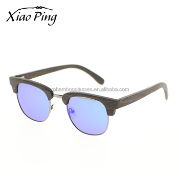 Handmade Half Frame Custom Logo Women Sunglasses Ladies Branded Sunglasses With Blue Mirror Lens