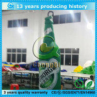 Customized promotion model inflatable beer bottle