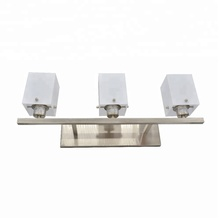 Best Selling UL CUL 3 Lights White Frosted Acrylic Brushed Nickel Vanity Light Fixture For Hotel Bathroom Mirror