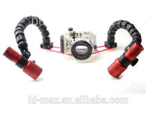 Triple Clamps Underwater Gopro Mounts and Trays underwater video light arms adjustable arm clamp
