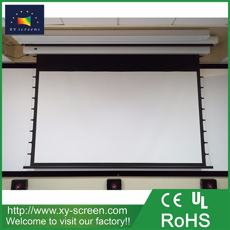 Xyscreen Home Theater System Tab Tension Motorized