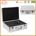Custom-made SILVER Aluminum Key Locking Hand Gun Pistol Carry Case Camera Hard Airsoft Box