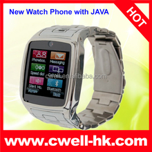 TW810+ Four Band GSM Metal Body Watch Mobile Phone with Bluetooth Watch Function 1.3MP Camera