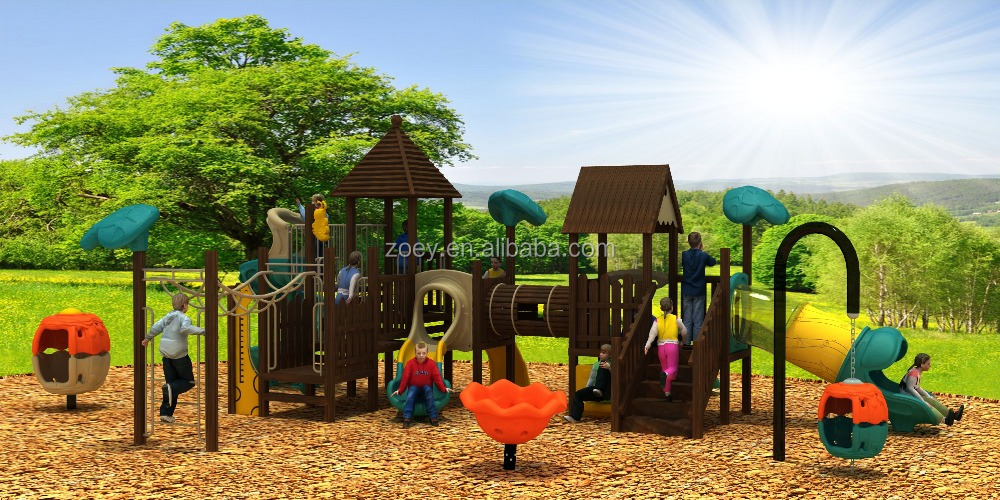 Amusement Cheap Playgrounds For Kids Wood Outdoor Playsets