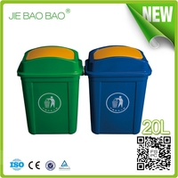 High Quality Plastic Flip Top can opener Indoor dustbin logo used for toilet 20l waste container home usage