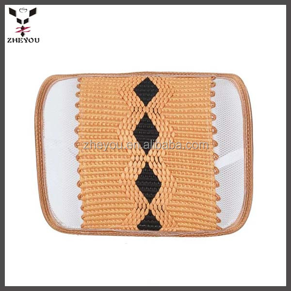 hot sales ice silk car lumbar pillow waist rest cushion relieving back stress when driving