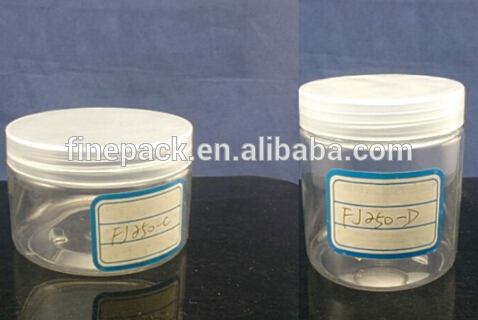 250ml clear round plastic container