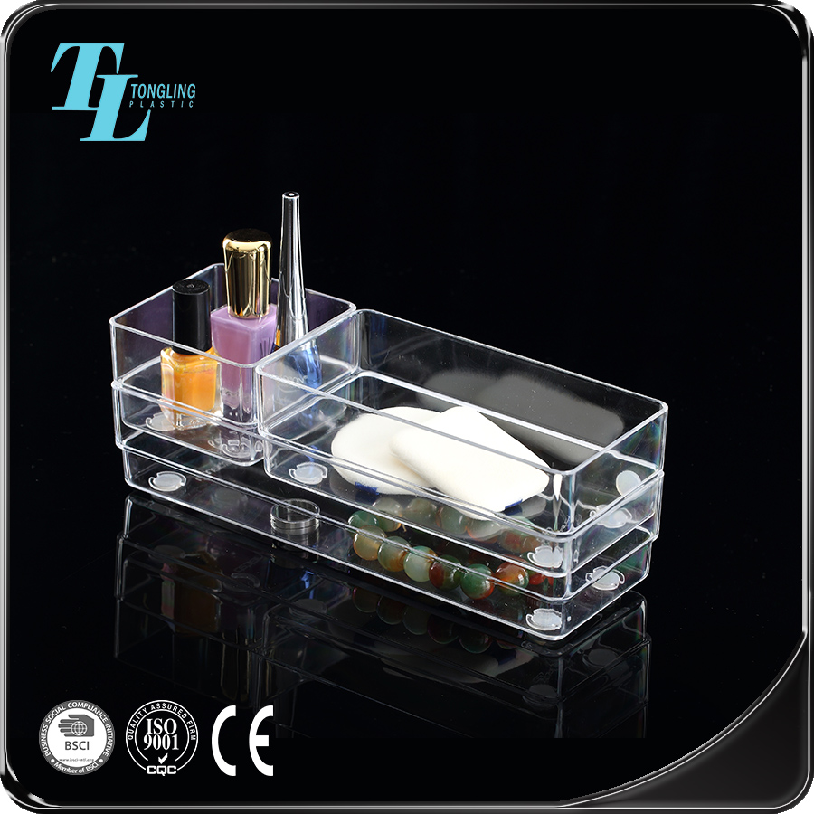 Durable clear acrylic organiser jewellery storage box jewelry display rack
